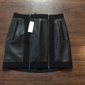 BCBG Faux leather skirt